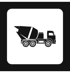 Truck concrete mixer icon simple style vector image