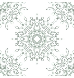 Abstract seamless pattern with a circular ornament vector image vector image