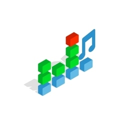 Equalizer scale icon isometric 3d style vector image vector image