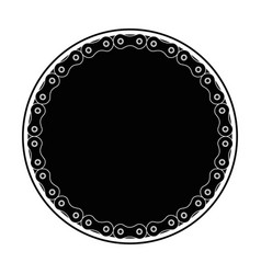 frame with chain bicycle vector image