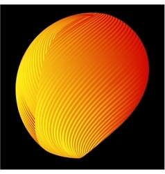 Abstract 3d background with half sphere vector image vector image