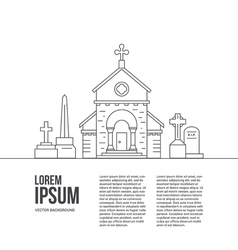 Cemetery Concept with text vector image
