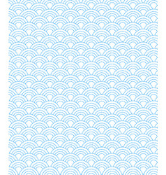 dashed line pattern wave simple on white vector image