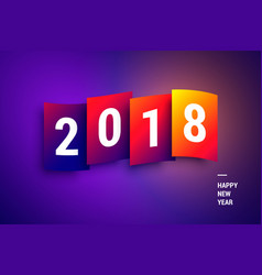 happy new year 2018 colorful gradient wallpaper vector image vector image