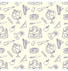 Scribble in a writing-books seamless pattern vector image vector image