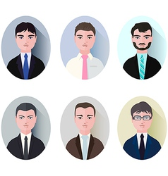 set of businessman icons style flat vector image vector image