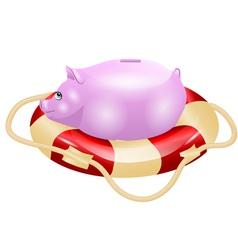 small piggy bank vector image