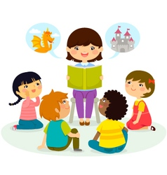 story time vector image vector image