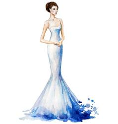 Watercolor fashion vector image vector image
