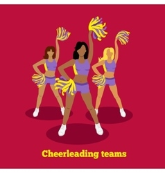 Cheerleading Team Concept Flat Design vector image