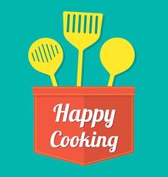 Happy Cooking vector image