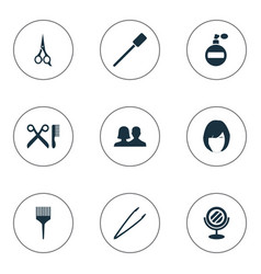 set of simple cosmetics icons vector image vector image