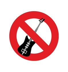 Stop music Ban for rock music Red forbidding vector image vector image