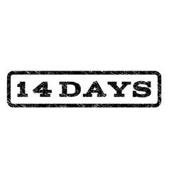 14 days watermark stamp vector