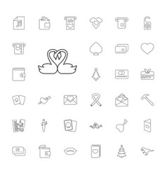 33 card icons vector