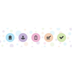 5 check icons vector