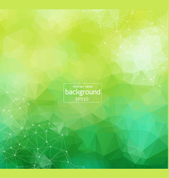 abstract green light geometric polygonal vector image
