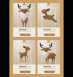 Animal banner with Deers for web design 1 vector image