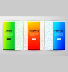 arrow brochure web design vector image