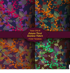 Autumn seamless floral pattern vector