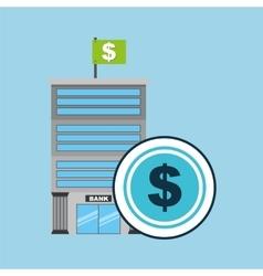 Bank concept service money vector