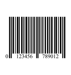 bar code on a white background isolated vector image