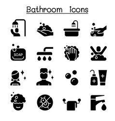 Bathroom icon set graphic design vector