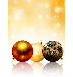 Beautiful gold happy Christmas card EPS 8 vector image