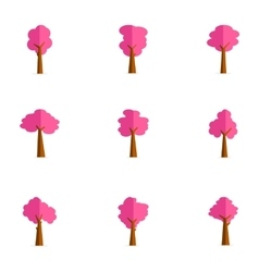 Beauty tree set of collection stock vector image