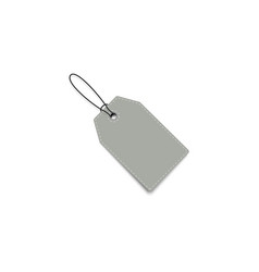 blank price tag price tag with shadow realistic vector image