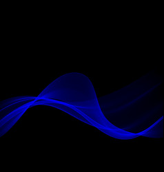 blue smoke effect on black background vector image