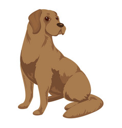 Brown labrador icon cartoon style vector
