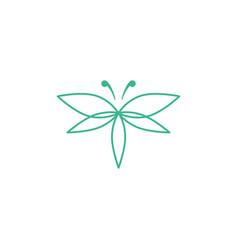 Cannabis butterfly logo icon vector