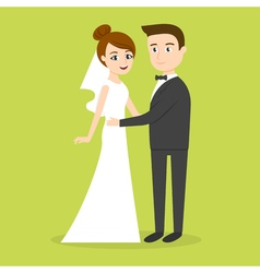 characters just married couple man and woman vector image