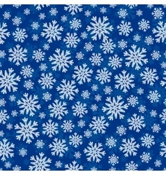 Christmas seamless pattern with white blue vector image