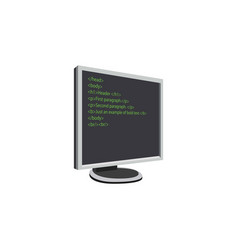 color image computer monitor wiht code vector image
