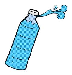 Comic cartoon orange juice bottle vector