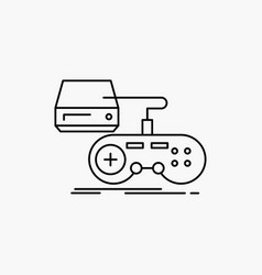 Console game gaming playstation play line icon vector