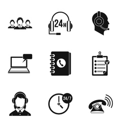 Consultation icons set simple style vector