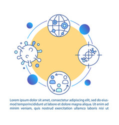 Coronavirus pandemic concept icon with text viral vector