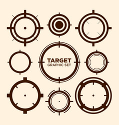 Crosshair target graphic icon graphic set vector