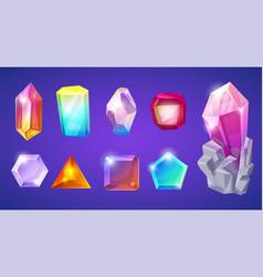 Crystal stone crystalline gem and precious vector