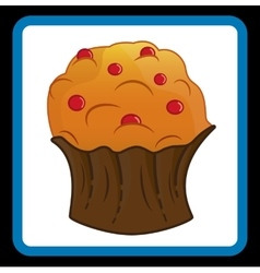 Cupcake picture eps10 vector image
