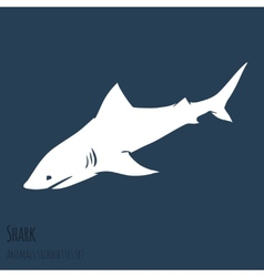 Danger Shark silhouettes set vector image