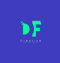Df letter logo design with negative space concept vector