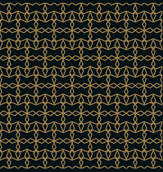 elegant line ornament pattern seamless pattern vector image