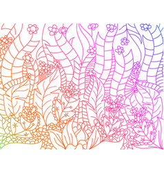 Floral gradients colors lined artistically scene vector