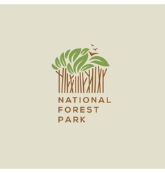 Forest national park logo vector image