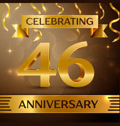 Forty six years anniversary celebration design vector