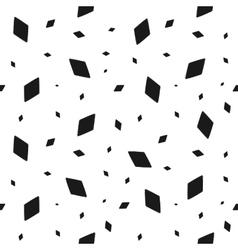 Geometric grunge seamless pattern black rhomb vector